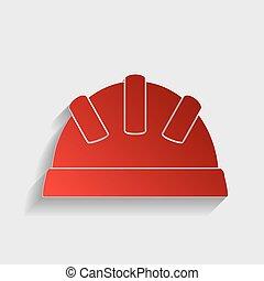 Helmet sign illustration.