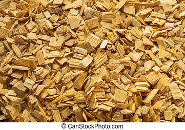 Wood chips - Wood chips texture, wooden background, top view...