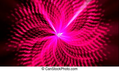 red rotation sawtooth and laser light