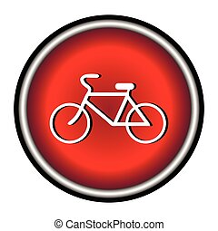 Bicycle icon on white background, vector illustration.