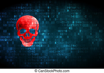 Medicine concept: Scull on digital background - Medicine...