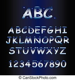 alphabet with shine stars