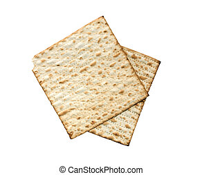 Matzoh Isolated On White - Seder concept. Matzoh isolated on...