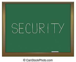 Security education concept - Illustration depicting a green...