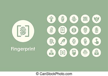 Set of fingerprint simple icons - It is a set of fingerprint...
