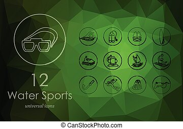 Set of water sports icons - water sports modern icons for...