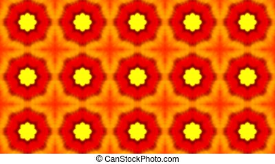 footage of orange seamless flower pattern