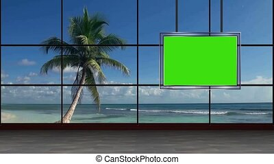 News TV Studio Set- - News TV Studio Set 33 - Virtual Green...