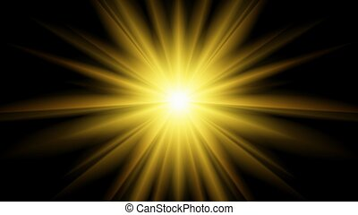 Star Burst - Abstract 3D illustration background of a...