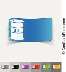 realistic design element barrel of oil - barrel of oil paper...