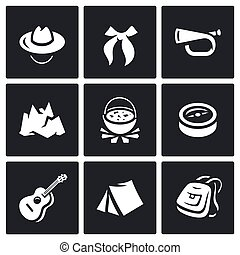 Vector Set of Scouting Icons
