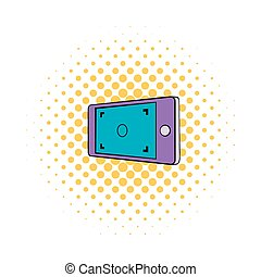 Camera viewfinder icon, comics style - Camera viewfinder...