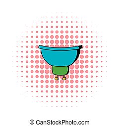 Luminodiode icon in comics style on a white background