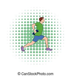 Man doing lunges with dumbbells icon