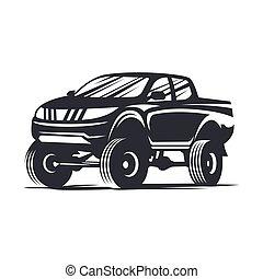 vector offroad car