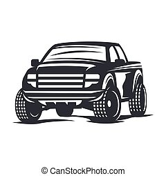 vector offroad car5 - Off-road car logo, emblem, badge, icon...