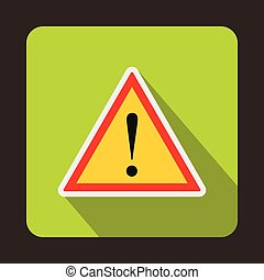 Warning attention sign with exclamation mark icon