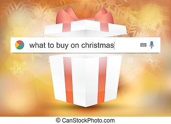 Searching the web for information about purchases for Christmas vector