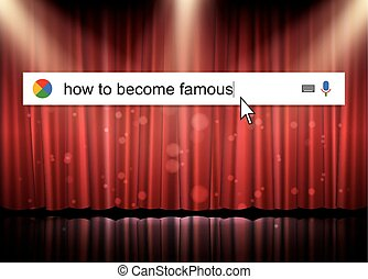 Searching the web for information about how become famous...