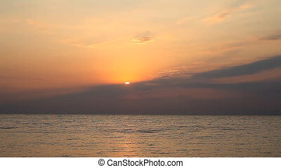 beautiful sunrise on the sea - beautiful sunrise over the...