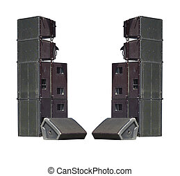 Old powerful stage concerto industrial audio speakers...