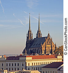 Cathedral of St. Peter and Paul with other buildings