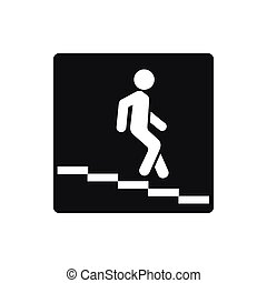 Underpass road sign icon, simple style - Underpass road sign...
