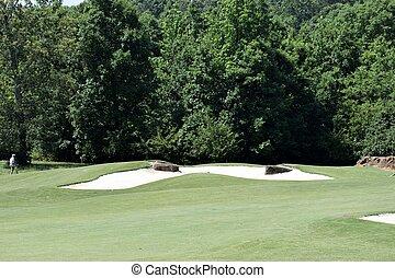 Golf Course Sand Trap - Golf Course background landscape