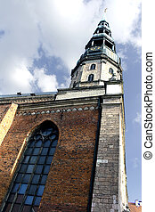 St. Peter\\\'s cathedral in Riga