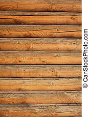 log wall - vertical fragment of exterior wall traditional...