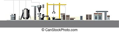Automatic production line - Vector illustration of a...