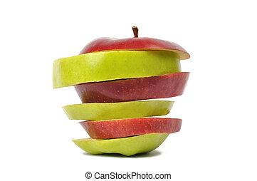 アップル, に薄く切る