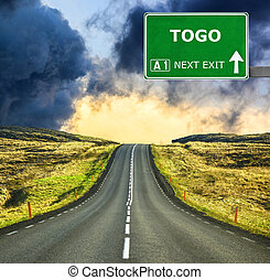 TOGO road sign against clear blue sky