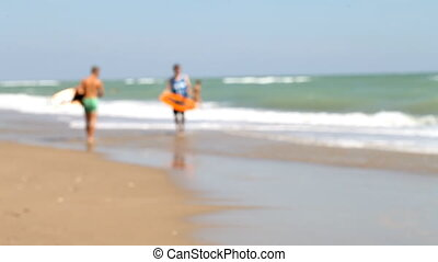 Leisure, Skimboarding, coast, sports, - Active people to...