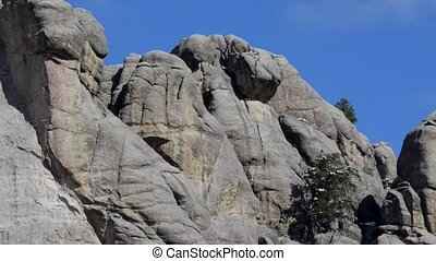 Mt Rushmore pan along the faces - Mount Rushmore South...