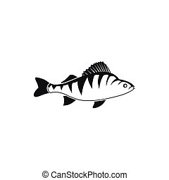 Fish icon, simple style - Fish icon in simple style isolated...