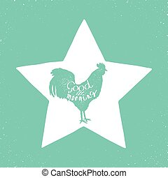 rooster - morning star