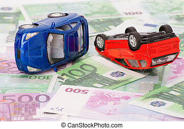 Accident two cars, insurance case
