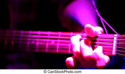 guitar, close-up, concert lighting, acoustic - Guitarist...