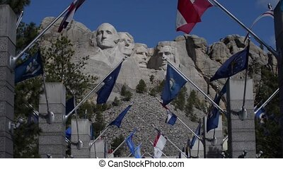 Mt Rushmore Wide zoom in and up HD - Grand View Terrace, the...