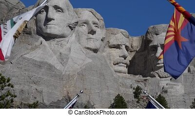 Mount Rushmore South Dakota Slow zoom out HD Video - Grand...