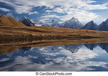 Landscape with mountain lake - Beautiful mountain lake....
