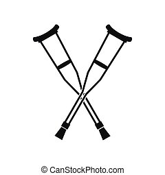 Crutches icon, simple style - Crutches icon in simple style...