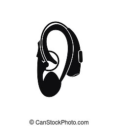 Hearing aid icon, simple style - Hearing aid icon in simple...