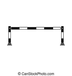 Traffic barrier icon, simple style - Barrier icon in simple...