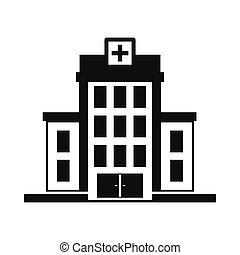 Hospital icon, simple style - Hospital icon in simple style...