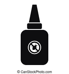 Insect spray icon, simple style
