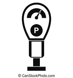 Parking meters icon, simple style