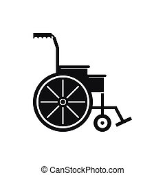 Wheelchair icon, simple style - Wheelchair icon in simple...