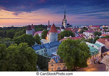 Tallinn. - Image of Old Town Tallinn in Estonia during...